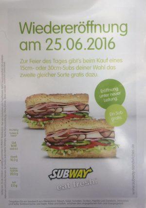 Subway Kohlscheid Neueröffnung