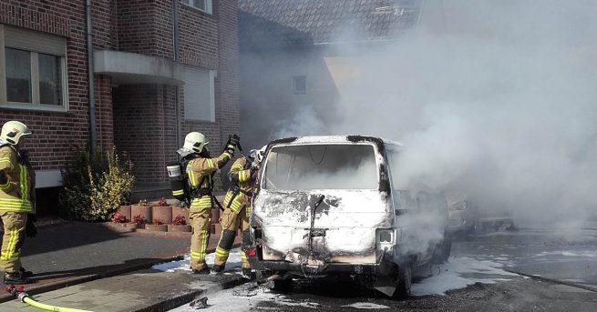 Fahrzeugbrand in Kohlscheid