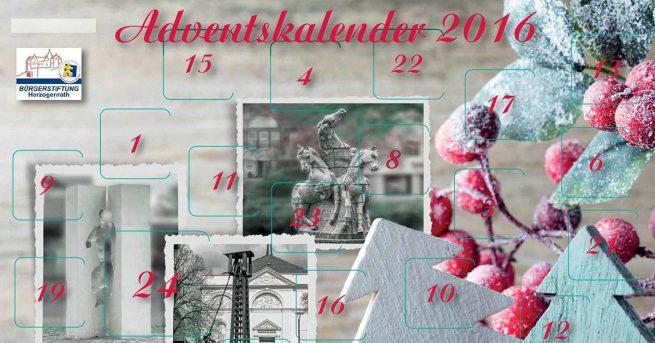 Adventskalender 2016 der Bürgerstiftung Herzogenrath