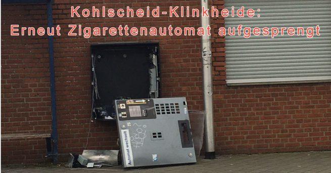 Zigarettenautomat aufgesprengt