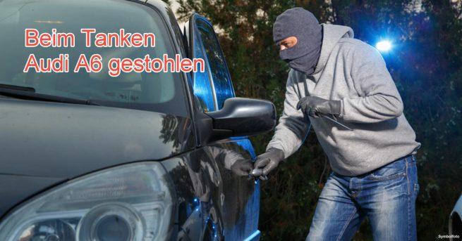 Beim Tanken Audi A6 gestohlen