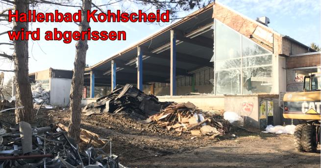 Abriss Schwimmhalle Kohlscheid