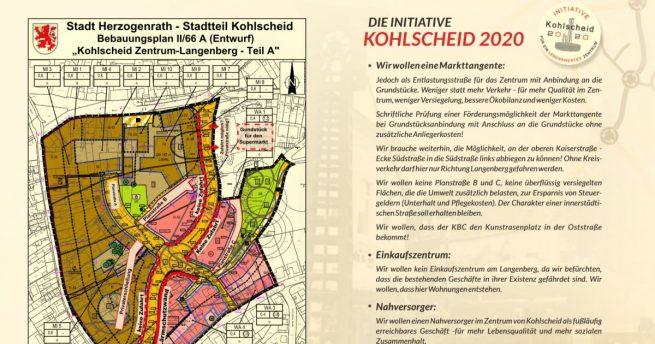 Informationsblatt der Initiative Kohlscheid 2020 zur Bürgerversammlung
