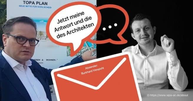 Björn Bock & Architekt Frank Drehsen antworten auf Leserbrief