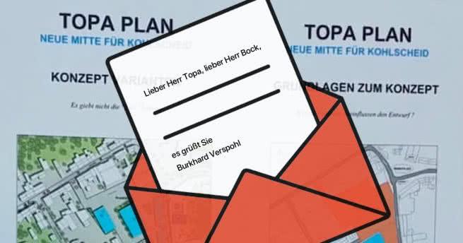 Leserbrief: Burkhard Verspohl zum Topa Plan